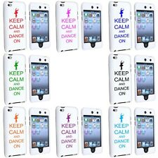 iPod Touch 4th Generation White 2 Piece Hard Case Cover Keep Calm and Dance On
