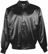 Augusta Sportswear Men's Satin Solid Trim Rib Knit Collar Baseball Jacket. 3600