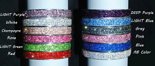Stainless steel bangle with swarovski crystal elements with clasp