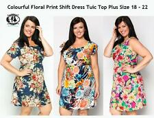 LADIES CURVE PLUS SIZE 14-16 XL FLOWER SHIFT DRESS PARTY SKATER TUNIC TOP BLOUSE