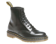 MENS DM DR MARTENS 1460 LEATHER BLACK SMOOTH LACE-UP SMART CASUAL BOOTS UK 6-15