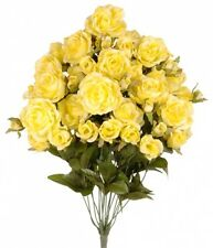 23 inch Deluxe Silk Rose Bushes 18 Stem/open roses and Buds