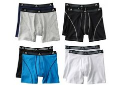 Adidas CLIMALITE NWT Mens Athletic Stretch Boxer Briefs 2 pack  S / M / L / XL