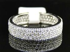 Ladies .925 Sterling Silver Pave Simulated Lab Diamond Eternity Ring Band