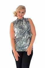 New Womens Sleeveless Fashion Animal Party Evening Top Tunic Nouvelle Plus Size