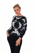 New Womens Batwing Top Long Sleeve Off Shoulder T-Shirt Nouvelle Plus Size