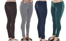 STRETCH Pants Solid Basic Colors Jeggings Jeans black gray khaki brown beige red