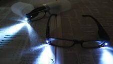 Mens Womens Reading Glasses With Dual Led Lights Come With Plastic Hard Case