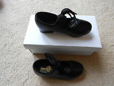 Black PU tappers and pointers tap shoes - all sizes