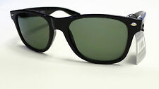 Mens Womens WAYFARER Retro Black Frame Sunglasses BK-1543