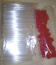 """50 4"""" test tubes vials plastic containers 13x100 8ml clear PS PP Snap Lids plug"""