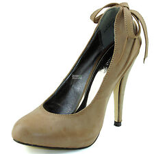 Classic Slip On Decorated Back Fashion Sexy Round Toe Stiletto Heel Pumps Shoes