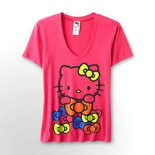 Mighty Fine Hello Kitty Pink Bows juniors Tee T Shirt Size S M L NWT