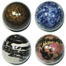 Wholesale Lot Mix Natural Gemstone Sphere Crystal BALL 40MM