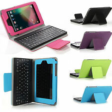 Bluetooth Keyboard PU Leather Smart Case Cover For Asus Google Nexus 7 Tablet US