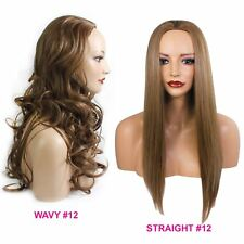 Ladies 3/4 WIG Half Fall Clip In Hair Piece Light Brown #12 Sexy Style