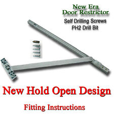 90 to 130 DEGREE UPVC DOOR RESTRICTOR ARM STAY HOLD OPEN DOUBLE FRENCH PATIO