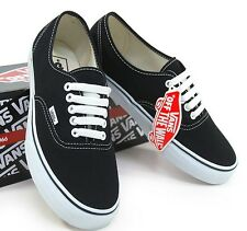 Vans Authentic Core Classics Black White Canvas Shoes VN-0EE3BLK Sz 3.5-13 NIB