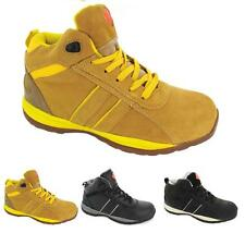 Mens Safety Steel Toe Cap Work Boots High Top Ankle Trainers Hiking Shoes 4 - 12