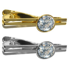 Loose Diamonds (Image Only) Round Tie Bar Clip Clasp Tack