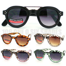 Womens Sunglasses Bold Thick Round Circle Frame Black Tort Brown New