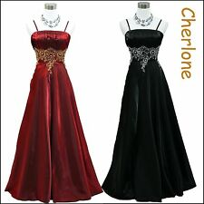 Cherlone Satin Sparkle Long Ball Bridesmaid Formal Wedding/Evening Gown Dress