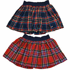 Hollister Womens Skirt Bettys Plaid Seagull Red Blue Mini New V038