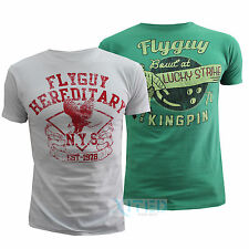 Mens 2 Pack Fly Guy T-shirts Crew Neck Short Sleeved Summer S-XL Twin Tshirt