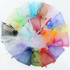100x Plain Organza Drawstring Gift Jewelry Bags Pouches For Wedding Xmas Party