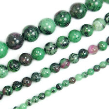 "Natural Ruby Zoisite Round Beads 15.5"" 4,6,8,10mm Pick"
