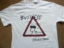 THE BUSINESS DRINKIN AND DRIVIN T-SHIRT PUNK SKINHEAD OI COCKNEY REJECTS SHAM 69