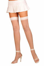 Plus Size Lingerie Sexy Sheer Thigh High Stocking - Fits Size 14-18