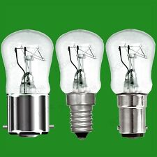 8x 25W Dimmable Clear Pygmy Light Bulbs, BC, B22, SBC, B15d or SES, E14 Lamps