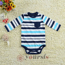 3M 6M 9M Baby Boy Rompers Infant Toddler Color Striped Long-sleeved Bodysuits