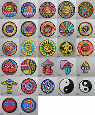 Om / Magic Mushroom / Yin Yang Iron-on Patch Badge aum ohm tao hippy psychedelic
