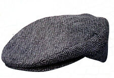 Dorfman Pacific 238 Ivy Cap Wool Tweed Herringbone Newsboy S M L XL or XX Gray