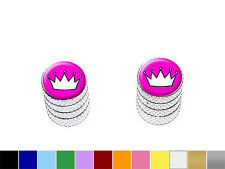 Princess Crown Tiara Tire Valve Stem Caps - Motorcycle Bike - Colors