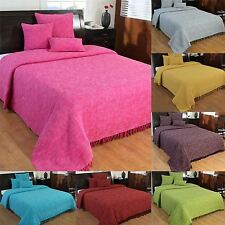 Nirvana Handwoven Large Throw Bedspread Sofa Bed Blanket Cotton Filled Cushions