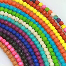 "16"" Howlite Turquoise Loose Beads Round 4mm 6mm 8mm 10mm 12mm 14 Colors"