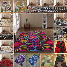 X LARGE-LARGE-MEDIUM-SMALL MODERN 1-2 CM THICK MULTI COLOUR ACRYLIC CARPET RUGS