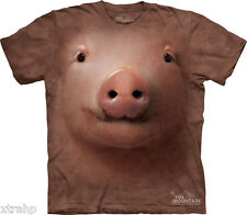The Mountain Pink Pig Face Adult T-Shirt PRINT IN USA MT49 Pork