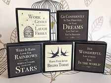 East of India Small Wooden Word Blocks - SHABBY CHIC GIFT