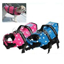Dog Life Jacket Safty Vest Pet Saver Beach Yacht Boat Water Swimming Preserver