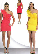 8 COLOR Short Gown Dress Party Sweet 16 Prom Evening Pageant One Shoulder 4 / 16