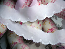 """Broderie Anglaise Cotton Eyelet lace trim 1.7""""(4.2cm) white YH1464 laceking2013"""