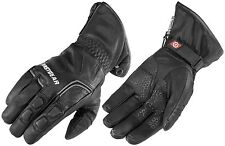 Mens Firstgear Navigator Waterproof Breathable Leather Motorcycle Gloves Black