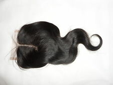 """10"""" 12"""" Middle Parting Body Wave Brazilian Virgin Lace Closure 100% Human hair"""