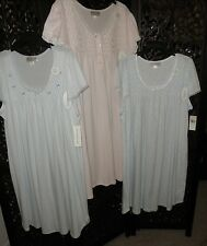 NWT $54-60 'Miss Elaine' Reg or PLUS Size Silkyknit Short Gown Night Shirt