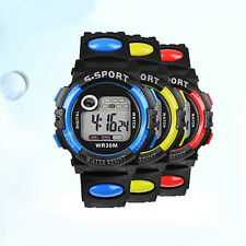 Mens Boys Sport Style Digital LED Alarm Date Function Quartz Wrist Watch B22U