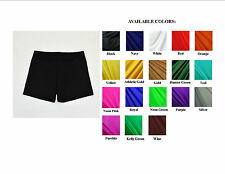 "VOLLEYBALL EXERCISE COMPRESSION SHORTS SOLID COLORS WOMENS 3"",4"", 6"" INSEAM NWOT"